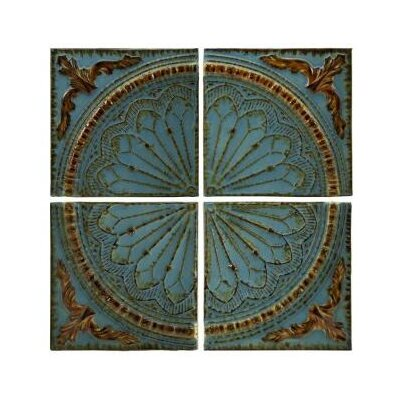IMAX Blue Quarter Medallion Wall Panel (Set of 4)