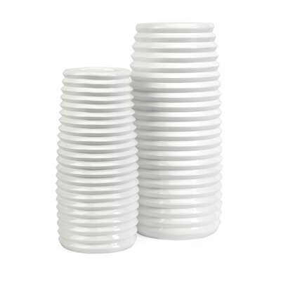 Daley 2 Piece Ribbed Vase Set