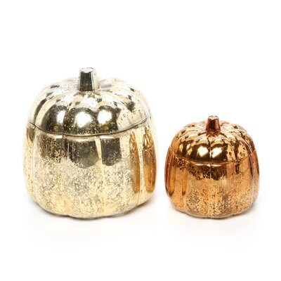 Wildon Home ® Chandler Mercury Glass Pumpkins (Set of 2)