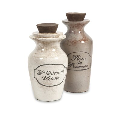 IMAX Victoria Decorative Perfume Bottles (Set of 2)