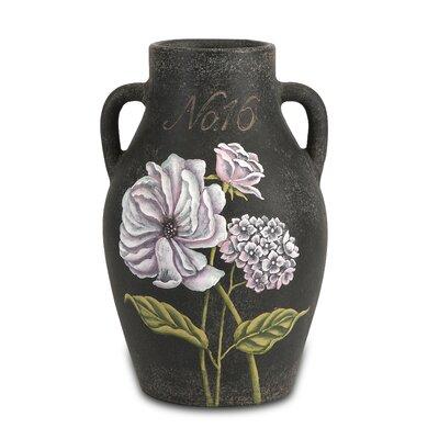 Quinn Handpainted Floral Vase
