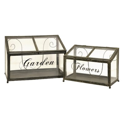 IMAX Tavares Two Piece Metal Greenhouse Set