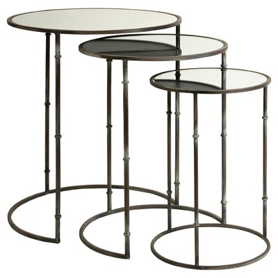 Flouressa Mirror Top Nesting Tables (Set of 3)