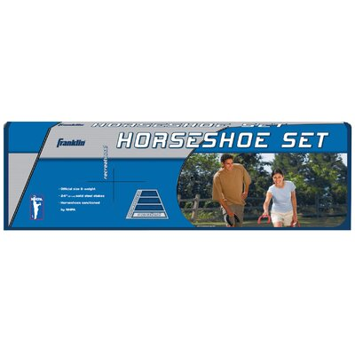 Franklin Sports Outdoor Games Recreational Steel Horseshoes Game Set