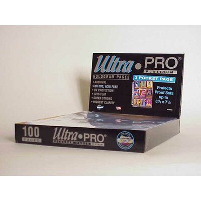 "Ultra Pro 7.5"" x 3.5"" Proof Sets Display Box (3 Pocket Pages)"