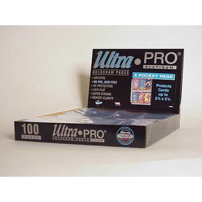 "Ultra Pro 2.5"" x 5.25"" Tall Cards Display Box (6 Pocket Pages)"