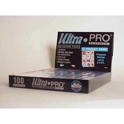 "Ultra Pro 2.25"" x 2.5"" Stickers Display Box (12 Pocket Pages)"