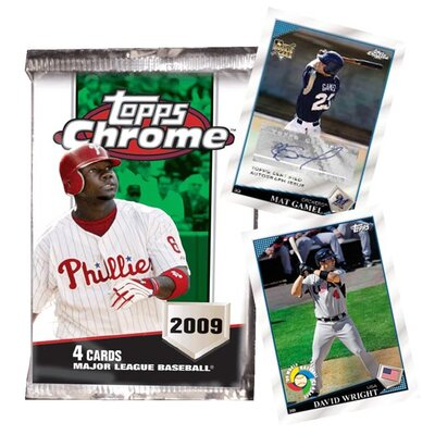 MLB 2009 Trading Cards - Chrome Retail (24 Packs)