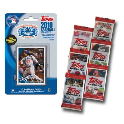 Topps MLB 2010 Team Set with Packs Trading Cards - Los Angeles Dodgers 55th Anniversary Edition