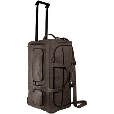 "David King 22"" Leather 2-Wheeled Travel Duffel"
