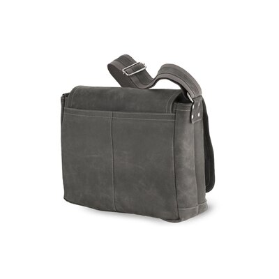 North South Laptop Messenger in Distressed Leather