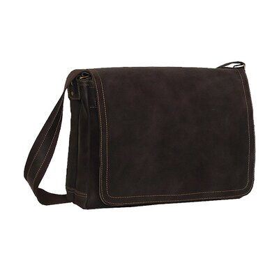 Distressed Full Flap Messenger Bag