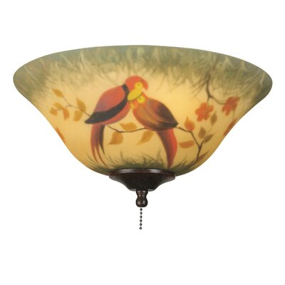 Fanimation Hand-painted Parrot Ceiling Fan Glass Bowl Shade
