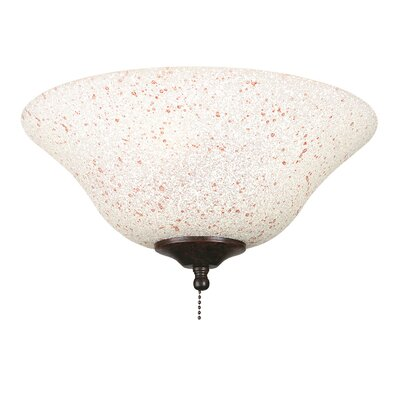 Fanimation Rust and Cream Speckled Ceiling Fan Glass Bowl Shade