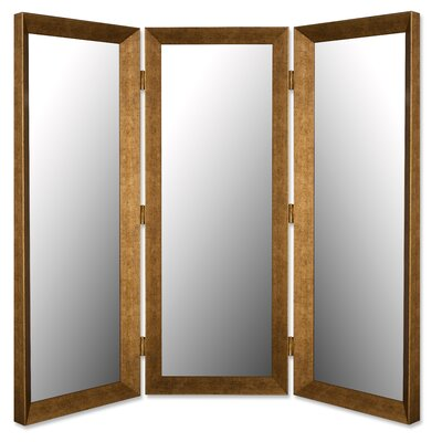 "Hitchcock Butterfield Company 75"" x 73"" Mirror 3 Panel Room Divider"