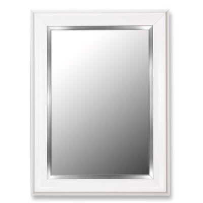 Hitchcock Butterfield Company Glossy White Grande / Stainless Liner Framed Wall Mirror
