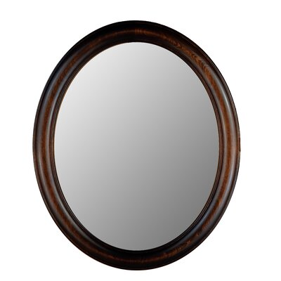 Hitchcock Butterfield Company Premier Series Oval Mirror in Dark Walnut