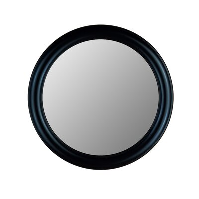 Hitchcock Butterfield Company Round Mirror in True Black