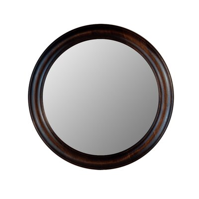 Hitchcock Butterfield Company Round Mirror in Dark Walnut