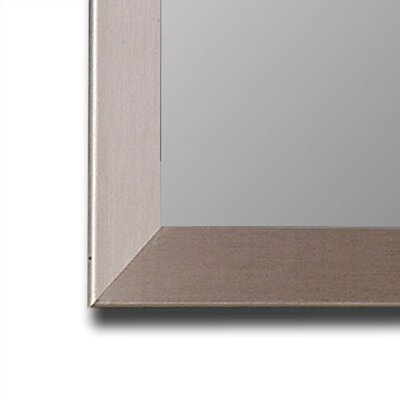 Hitchcock Butterfield Company Silver Stainless Framed Wall Mirror