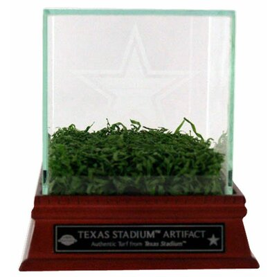 Steiner Sports Texas Stadium Game Used Turf with Etched Glass Display Case and Nameplate