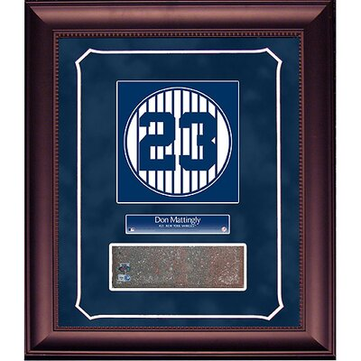 Steiner Sports Don Mattingly Retired Number Monument Park Brick Slice 14x18 Framed Collage with Nameplate