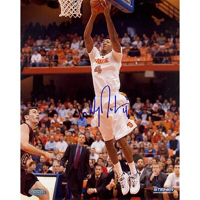 "Steiner Sports Wesley Johnson 16"" Autographed Two-Handed Slam Photograph"