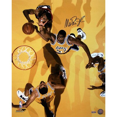 Steiner Sports Magic Johnson Autographed Overhead View Versus Heat Photograph