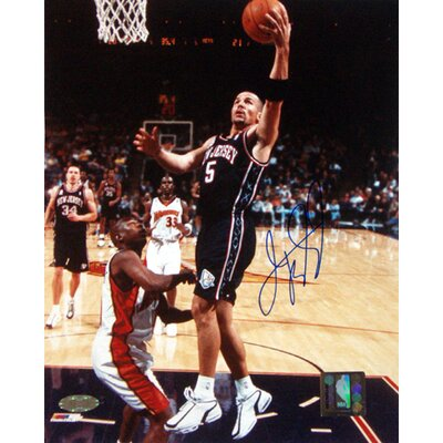 Steiner Sports Jason Kidd Autographed NJ Nets Lay-up Versus The Warriors Photograph