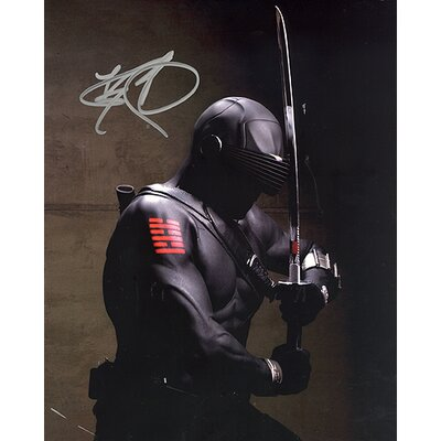 Steiner Sports Ray Park GI Joe In Black Suit Vertical Autographed