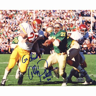 "Steiner Sports Allen Pinkett ND Run Vs. USC 8"" x 10"" Autographed"