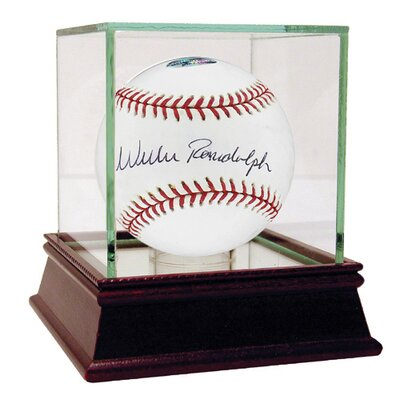 MLB Willie Randolph Autographed Baseball in Black