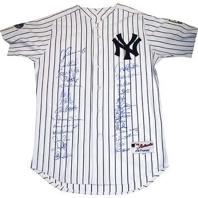 Steiner Sports 2008 Yankees Team Signed Derek Jeter 2008 Dual Patch Home Jersey (LE 83)