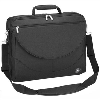 Sumdex Black Large Expandable Laptop Briefcase