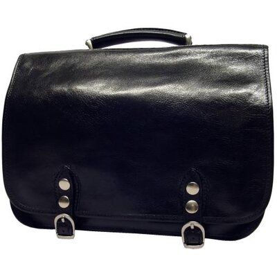 Alberto Bellucci Verona Comano Leather Laptop Briefcase