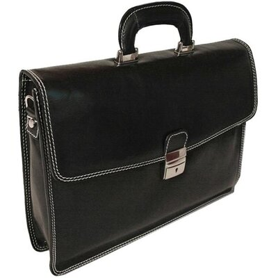 Verona Vernio Leather Laptop Briefcase