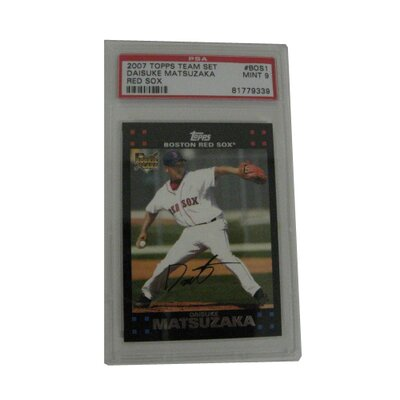 PSA MLB 2007 Topps Daisuke Matsuzaka Graded Rookie Card - Boston Red Sox