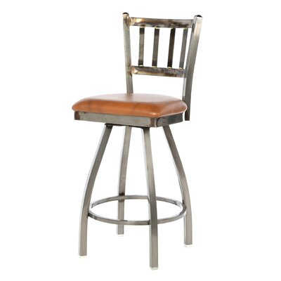 Regal Steel Jailhouse Back Metal Swivel Barstool