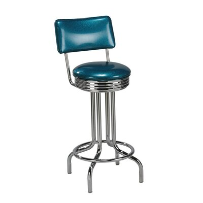 "Regal Steel Retro Single Ring 30"" Metal Swivel Barstool"