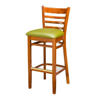 "Regal Beechwood Ladder Back 30"" Bar Stool"