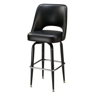 "Regal Cut-Out Back 30"" Metal Swivel Barstool"