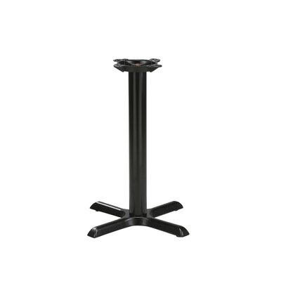 Regal Black Steel Table Base with Reversible Round or Square Table Top