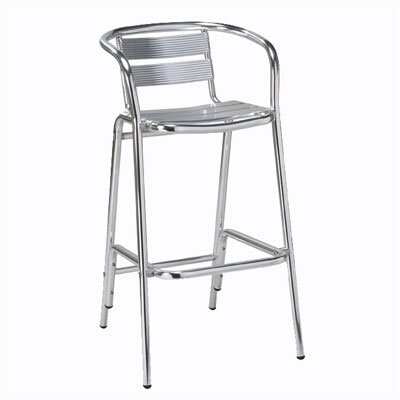 "Regal Rochester 30"" Metal Frame Outdoor Barstool"