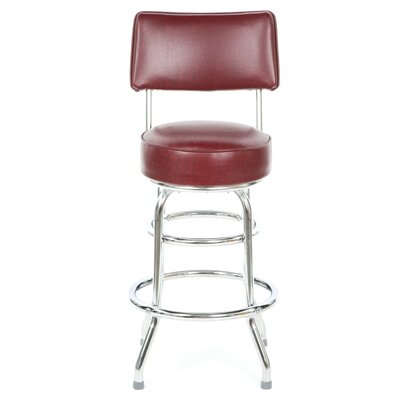 "Regal Steel Double Ring 26"" Metal Swivel Counter Stool"