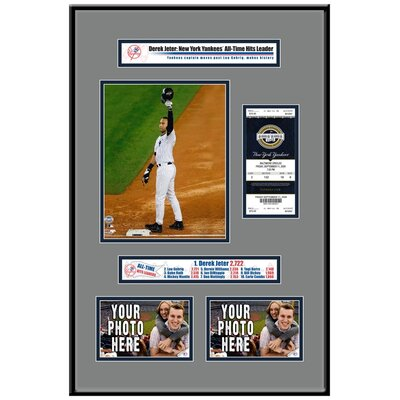 That's My Ticket MLB Derek Jeter Breaks Yankees Hit Record Ticket Frame - New York Yankees