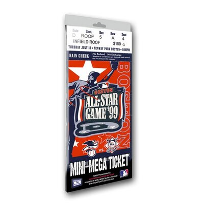 That's My Ticket 1999 MLB All-Star Game Boston Red Sox Mini Mega Ticket