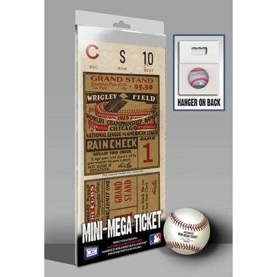 That's My Ticket 1929 MLB World Series Chicago Cubs Mini Mega Ticket