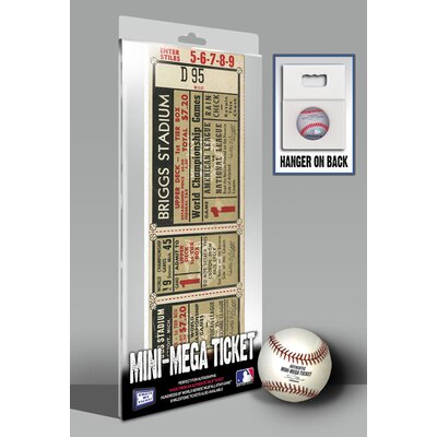 That's My Ticket 1968 MLB World Series Detroit Tigers Mini Mega Ticket