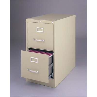 "CommClad 26.5"" Deep Commercial 2 Drawer Letter Size High Side Vertical File Cabinet"