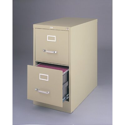 CommClad 25&quot; Deep Commercial 2 Drawer Letter Size High Side Vertical File Cabinet